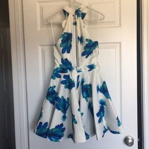A beautiful Luxxel blue and green floral dress.